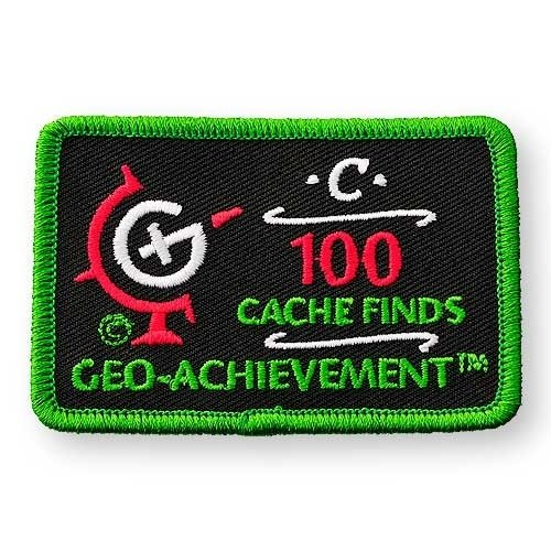 100 Finds Geo-Achievement® -hihamerkki