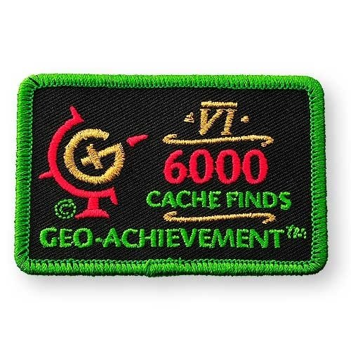 6000 Finds Geo-Achievement® -hihamerkki