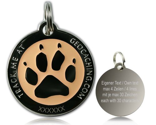 Cacher's Dog  Polished Silver GLOW -geokolikko