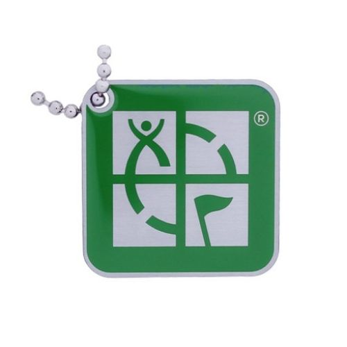 Geocaching Logo Travel Tag (Vihreä)