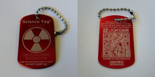 QR Science Tag - Red