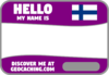 Flag Name Tag (Finland) - Purple