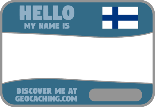 Flag Name Tag (Finland) - Stone Blue