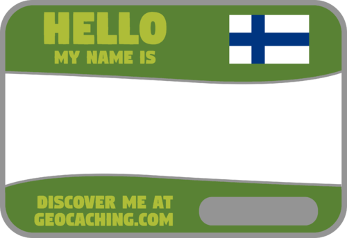 Flag Name Tag (Finland) - Meadow Green