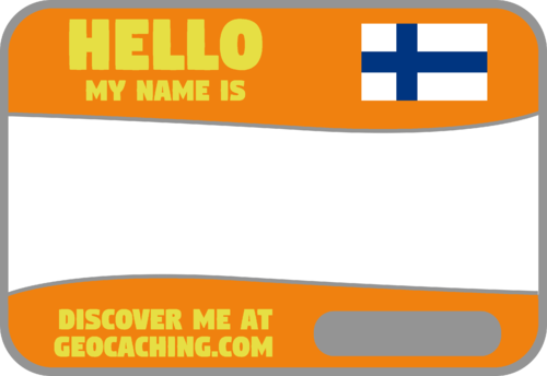 Flag Name Tag (Finland) - Tangerine
