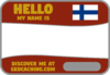 Flag Name Tag (Finland) - Crimson Red