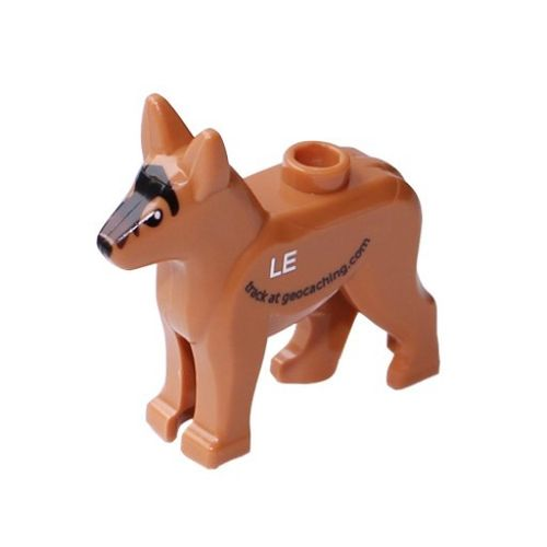 Custom Trackable GeoDog Brick- German Shepherd