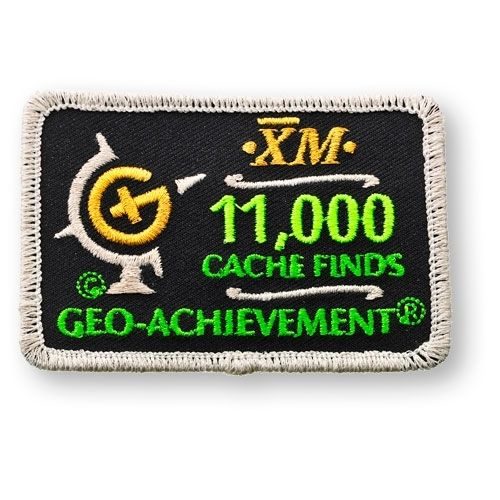 11000 Finds Geo-Achievement® -hihamerkki