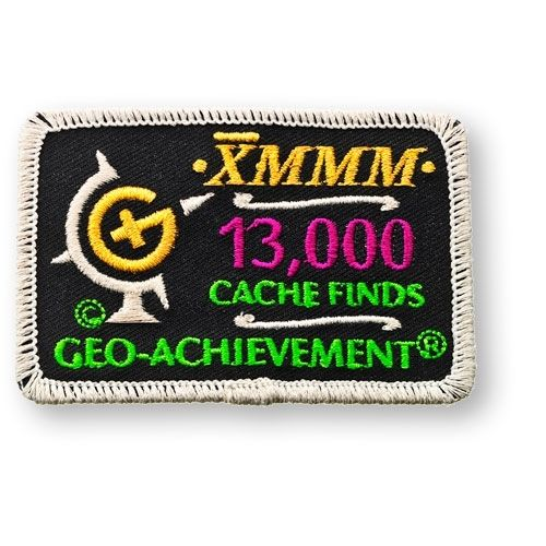 13000 Finds Geo-Achievement® -hihamerkki