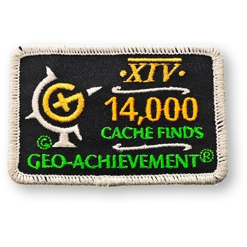14000 Finds Geo-Achievement® -hihamerkki