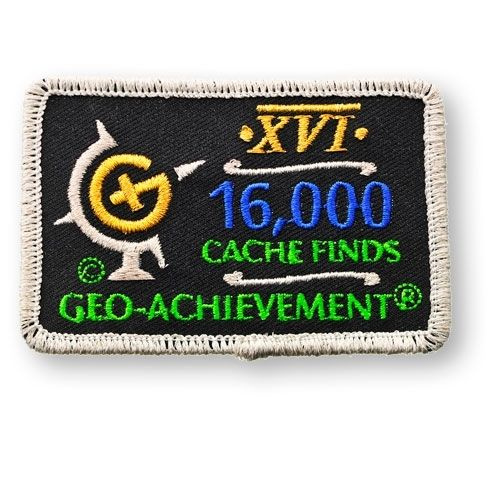 16000 Finds Geo-Achievement® -hihamerkki