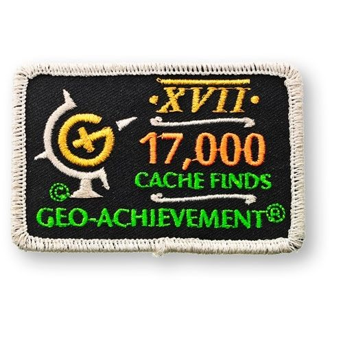 17000 Finds Geo-Achievement® -hihamerkki