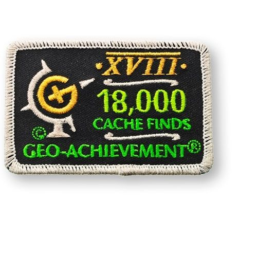 18000 Finds Geo-Achievement® -hihamerkki