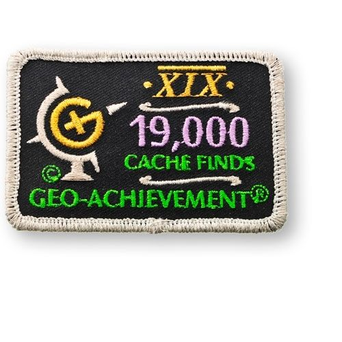 19000 Finds Geo-Achievement® -hihamerkki
