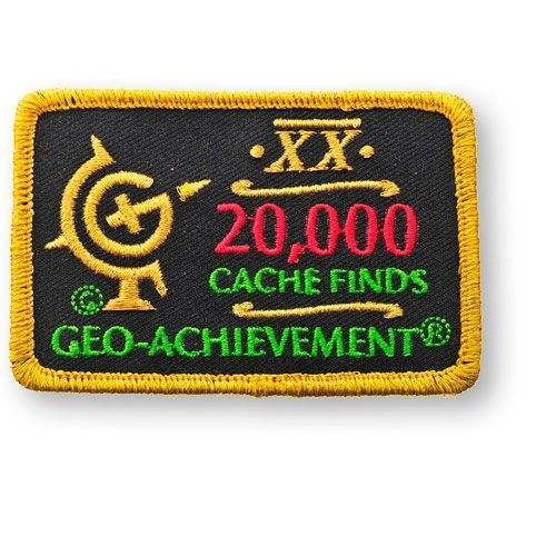 20000 Finds Geo-Achievement® -hihamerkki