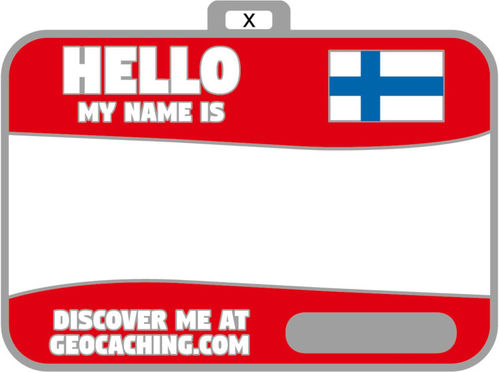 Flag name tag ver 2 (Red)