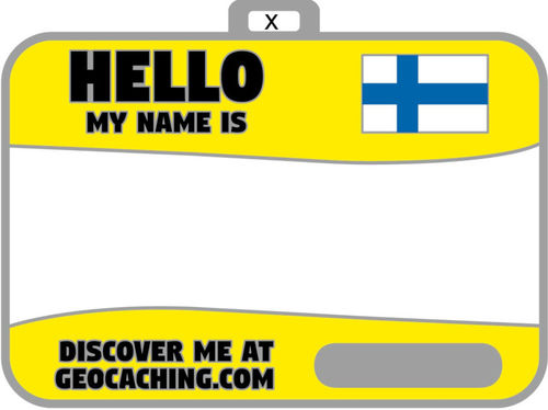 Flag name tag ver 2 (Yellow warning)