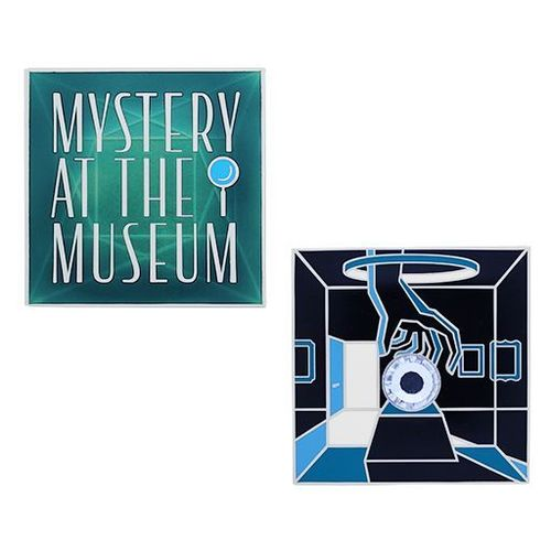 Mystery at the Museum Geocoin and Tag Set