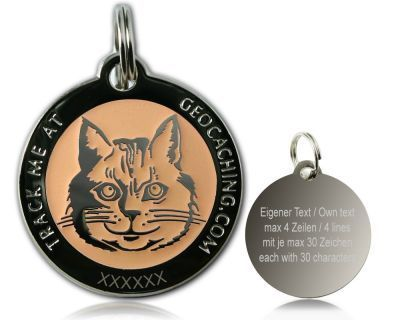 Cacher's Cat Polished Silver GLOW -geokolikko