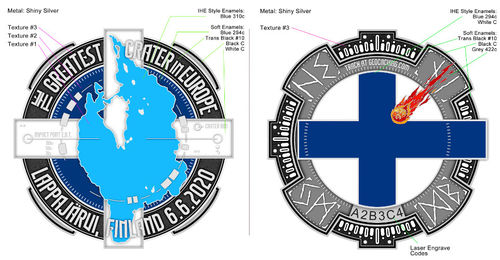 The Greates Crater in Europe Geocoin (RE)