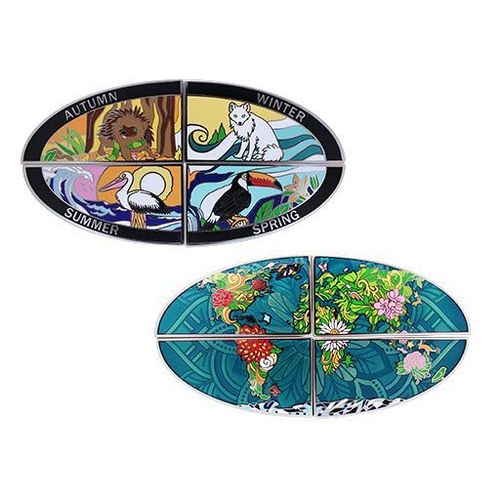 4 Seasons Geocoin - Set of All 4