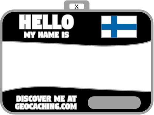Flag Name Tag (Finland) (KOODITON)